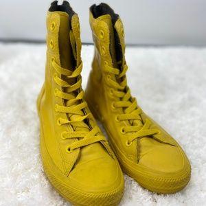 Converse Chuck Taylor Hi Top Rain Yellow Boots Sz6